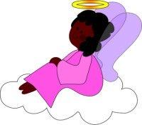 Angel Cartoon on an Cloud
