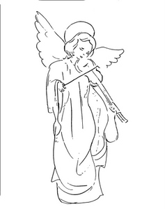 Angel Playing Violin