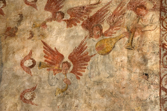 Fresco depicting Angels