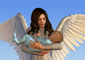 Picture of Guardian Angel with Baby