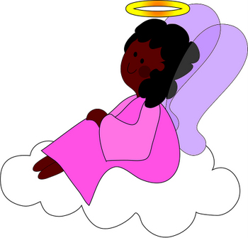 Angel Cartoon on an Cloud