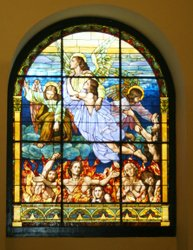 Angel Images on Church Window